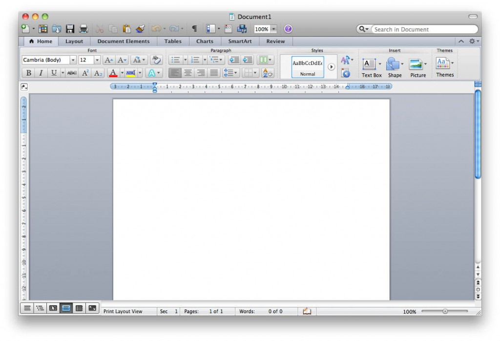 Microsoft Word в Office для Mac 2011