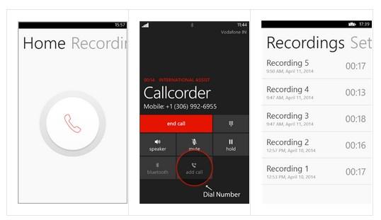 запись звонков на windows phone 8.1