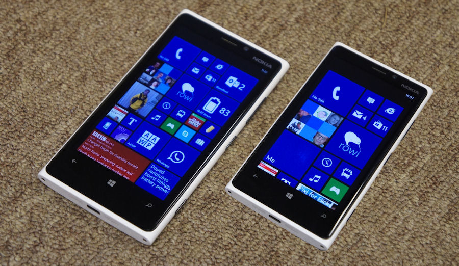 Стартовый экран Lumia 920 c Windows Phone 8.1