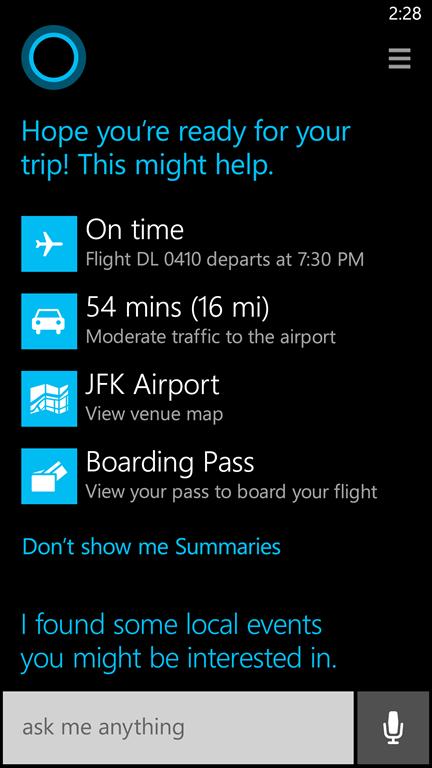 Cortana - голосовой помощник на WP8.1