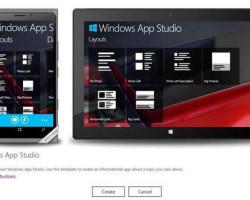 В Windows App Studio Beta можно создавать приложения и для Windows 8
