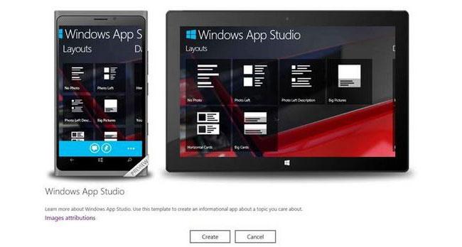 В Windows App Studio Beta теперь можно создавать универсальные приложения для Windows Phone и Windows