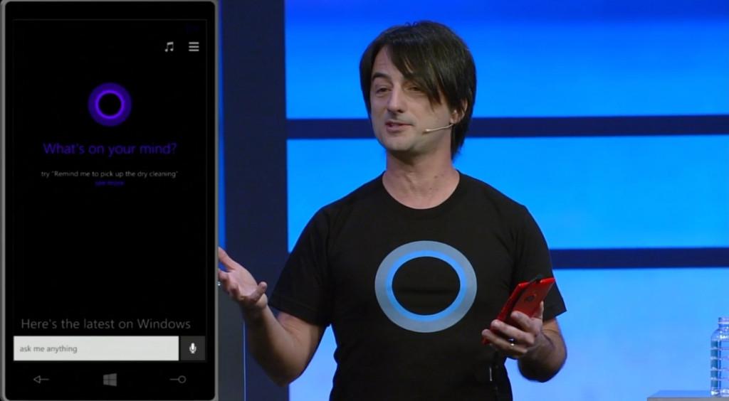 Джо Белфиор и Cortana. Отличная футблка, Джо!