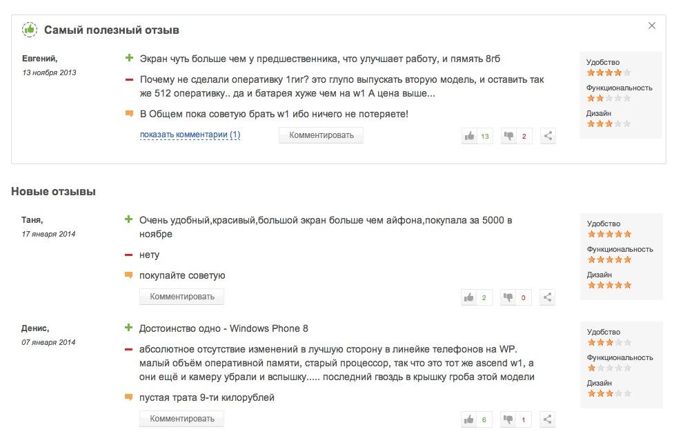 Отзывы владельцев Huawei Ascend W2