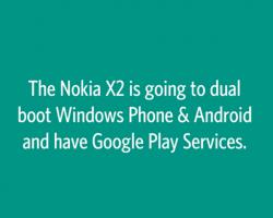 Слухи: смартфон Nokia X2будет двухзагрузочным