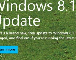 На этой неделе у Microsoft будет готова RTM-версия Windows 8.1 Update 2