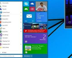 Полноценное меню «Пуск» появится вWindows 9в 2015 году