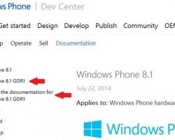 Windows Phone 8.1 GDR1 — доказательство существования и несколько функций