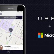 НаWindows Phone появилось полноценное приложение такси Uber
