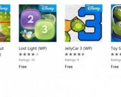 Disney раздает бесплатно шесть игр для Windows Phone