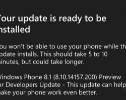 Вышло обновление девелоперской версии Windows Phone8.1 Update1