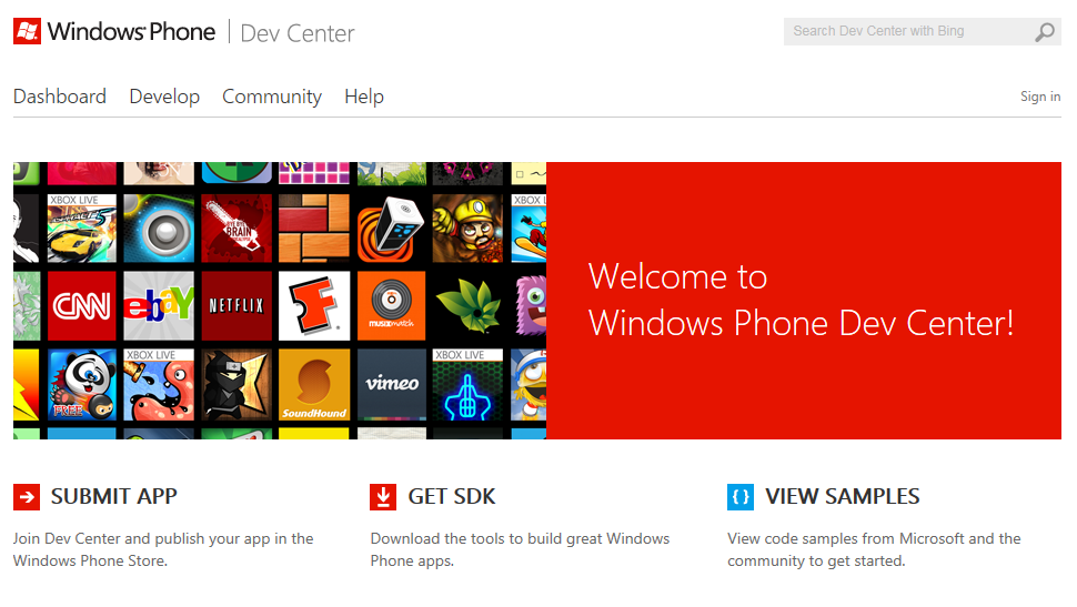 Windows-Phone-Dev-Center