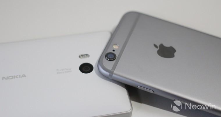 Lumia Icon и iPhone 6