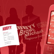 Приложение ABBYY Business Card Reader вышло на Windows Phone