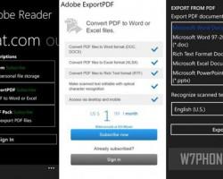 Adobe Reader для устройств Windows Phone получил небольшое обновление
