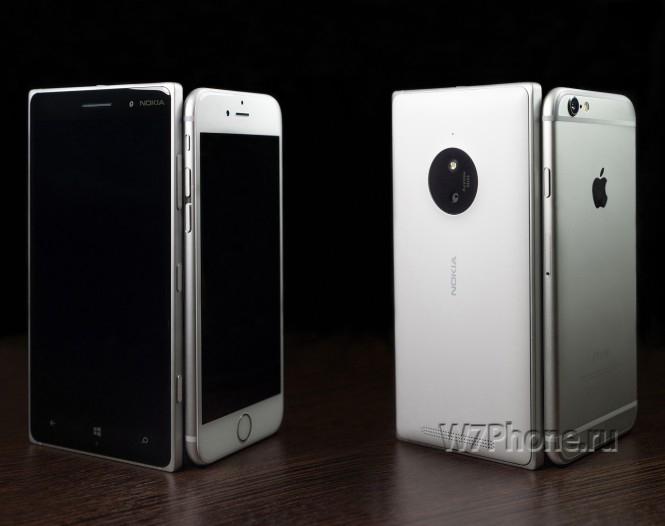 Сравнение Lumia 830 и IPhone 6