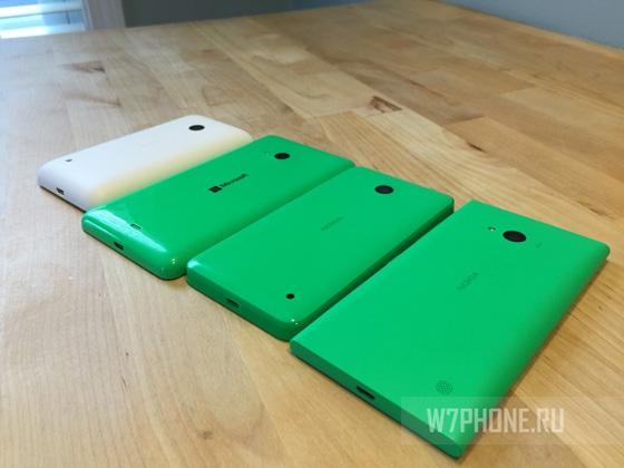 Слева направо: Lumia 530, 535, 635, 735