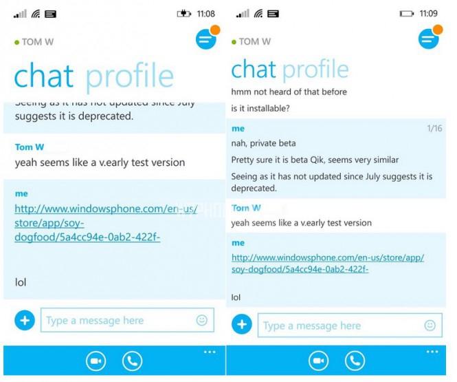 Новый Skype для WP-2