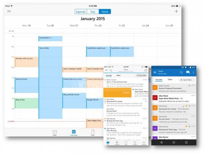 Microsoft выпустила приложение Outlook для Android и iOS