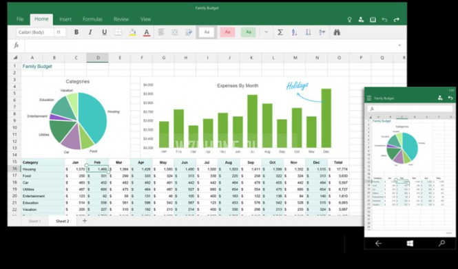 Excel для Windows 10
