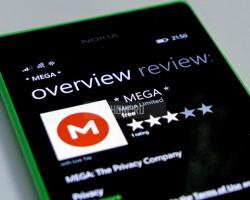 На Windows Phone появилось ещё одно приложение MEGA