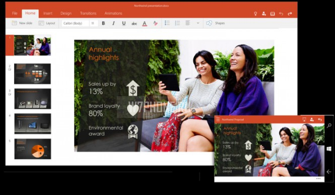 PowerPoint для Windows 10