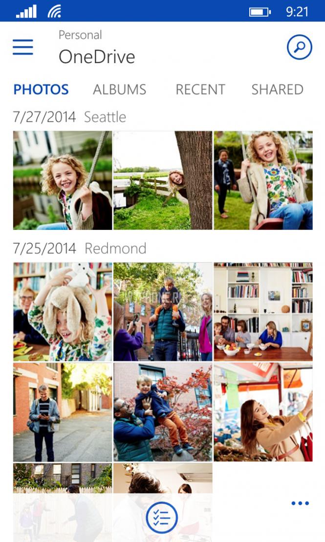 OneDrive для Windows Phone научился составлять альбомы и работать с несколькими аккаунтами