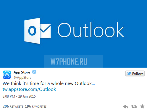 Apple-promotes-Outlook-via-tweet