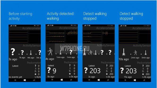 Windows 10 - Фитнес-приложения и датчики