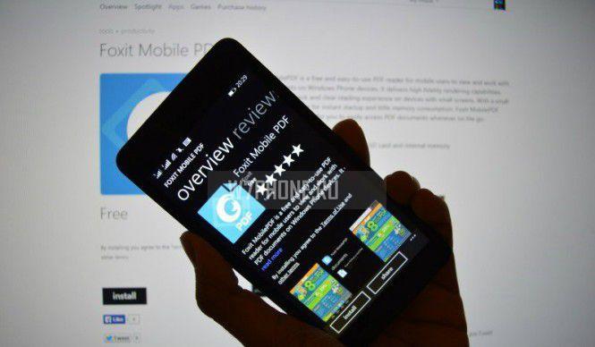 В Windows Phone появилось приложение Foxit Mobile PDF Reader