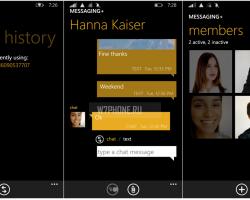Microsoft Lumia 535 вместе собновлением прошивки получает новый мессенджер— Messaging+