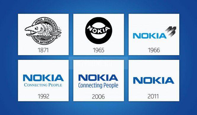 Логотипы Nokia в разные годы