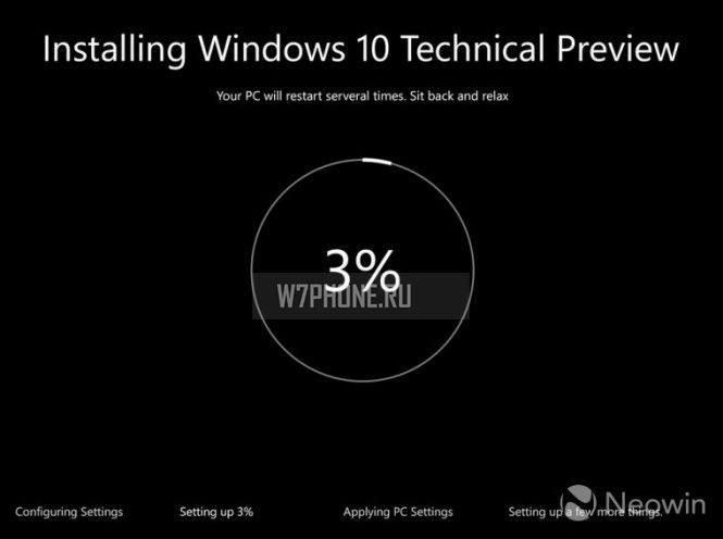 Windows 10 получит новый интерфейс инсталляции