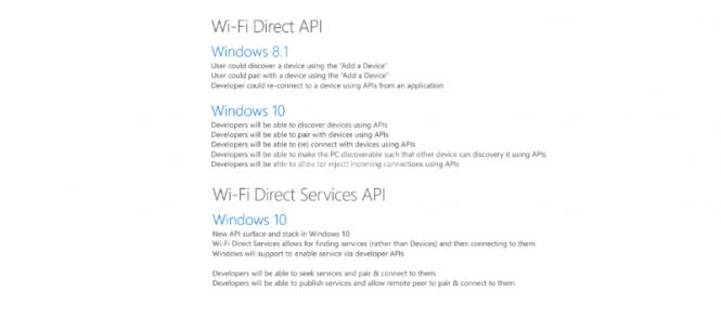 Windows 10 - Wi-Fi Direct