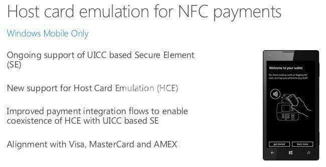 Поддержка NFC-платежей в Windows 10