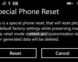 Обнаружен ещё один способ сброса WP-смартфона кзаводским настройкам