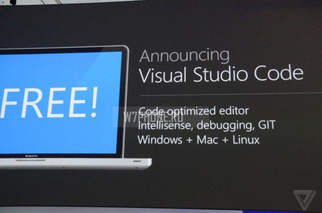 Visual Studio Code — новый редактор программного кода от Microsoft