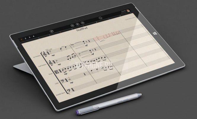 Приложение StaffPad называют произведением искусства, возможным благодаря наличию Surface Pen