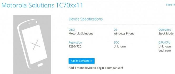 WP-смартфон от Motorola Solutions