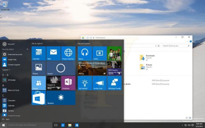 Windows 10 (10125) оказалась в публичном доступе