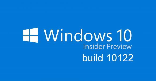 Сегодня выйдет сборка Windows 10 Insider Preview (10122)