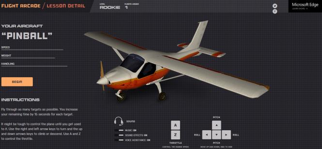 Microsoft выпустила игру Flight Arcade для продвижения браузера Edge
