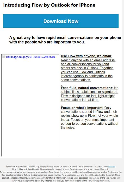 Microsoft работает над IM-клиентом электронной почты Flow
