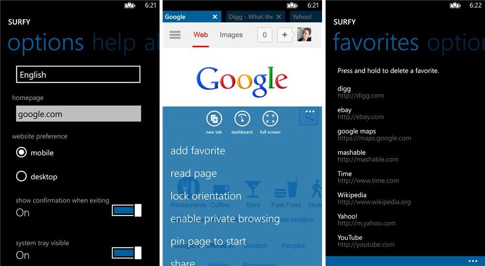 браузеры для Windows Phone - фото 5