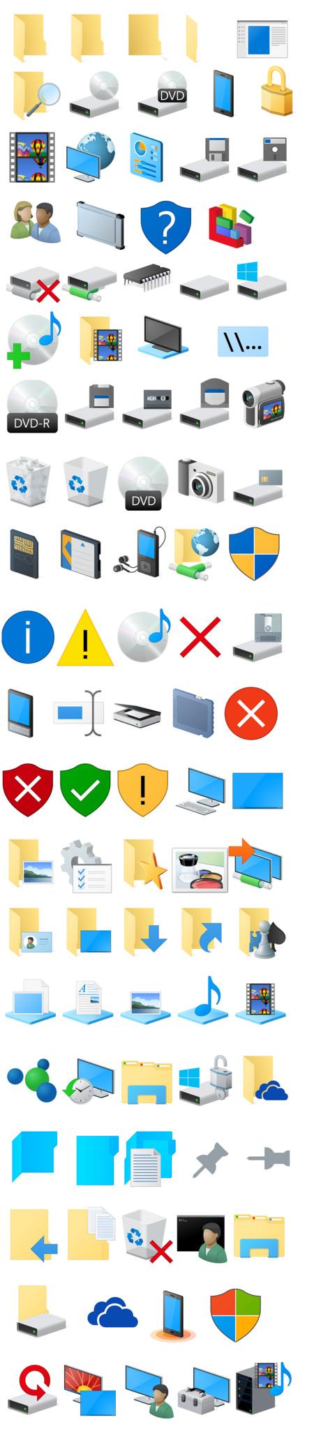 Windows 10 новые иконки
