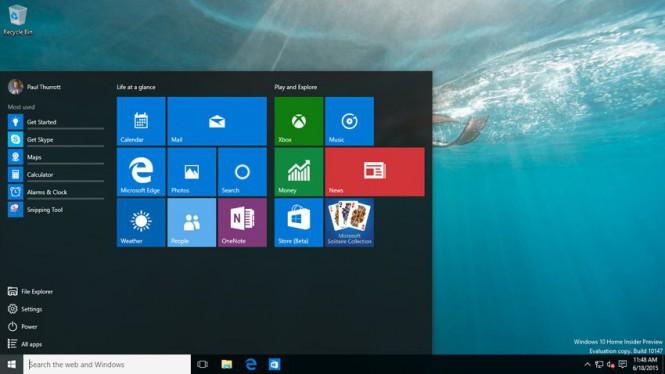 В Интернет утекла Windows 10 build 10147