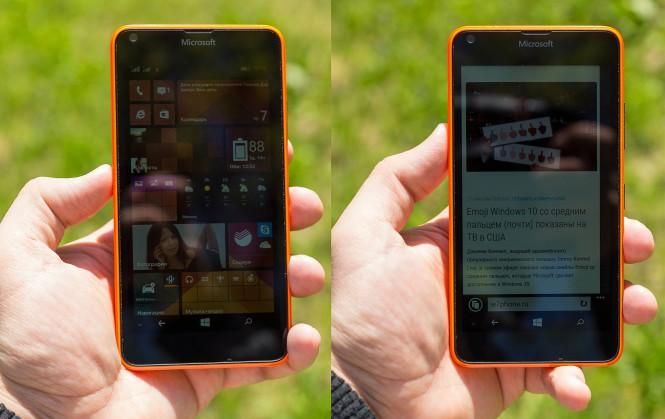 Lumia 640 на солнце