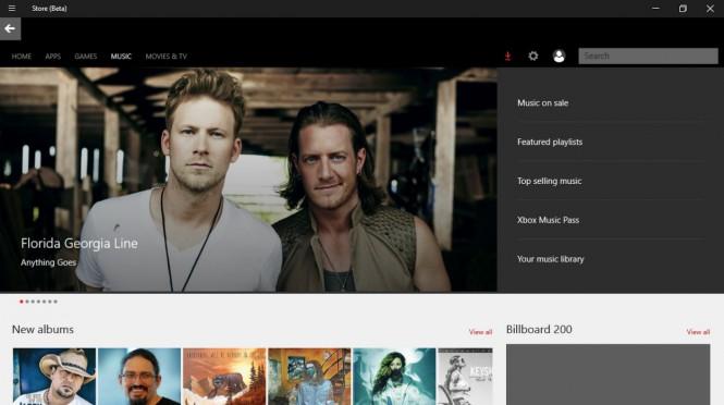 В Windows 10 открылся доступ к Music Store
