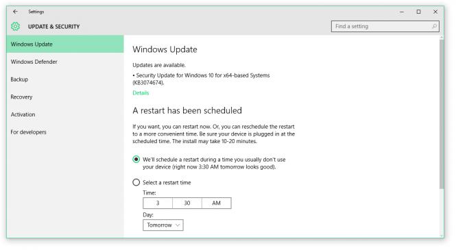 Windows 10 получила обновление безопасности KB3074674