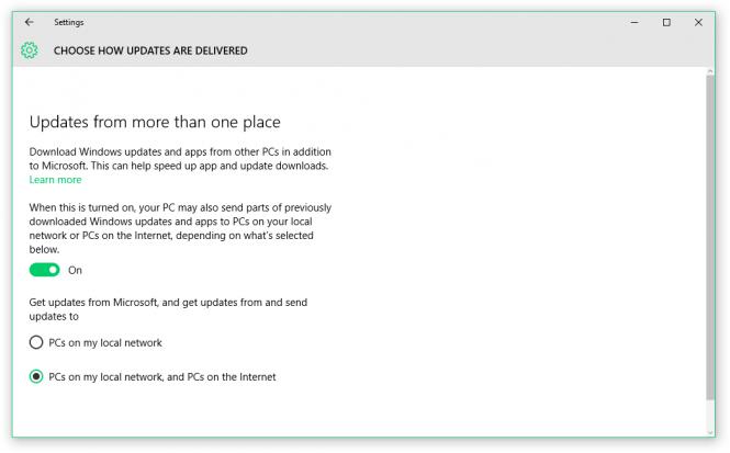Microsoft использует пиринговую систему для распространения обновлений Windows 10